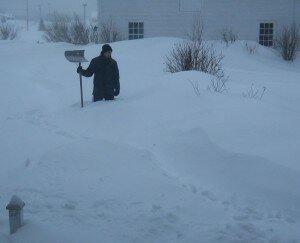 Huge snowstorm in Knowlton Quebec.