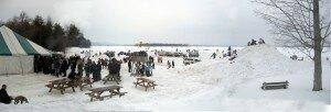 Winter festival in Knowlton.