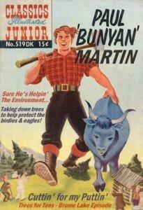 Paul Martin as Paul Bunyon the tree chopping golfer of Knowlton.