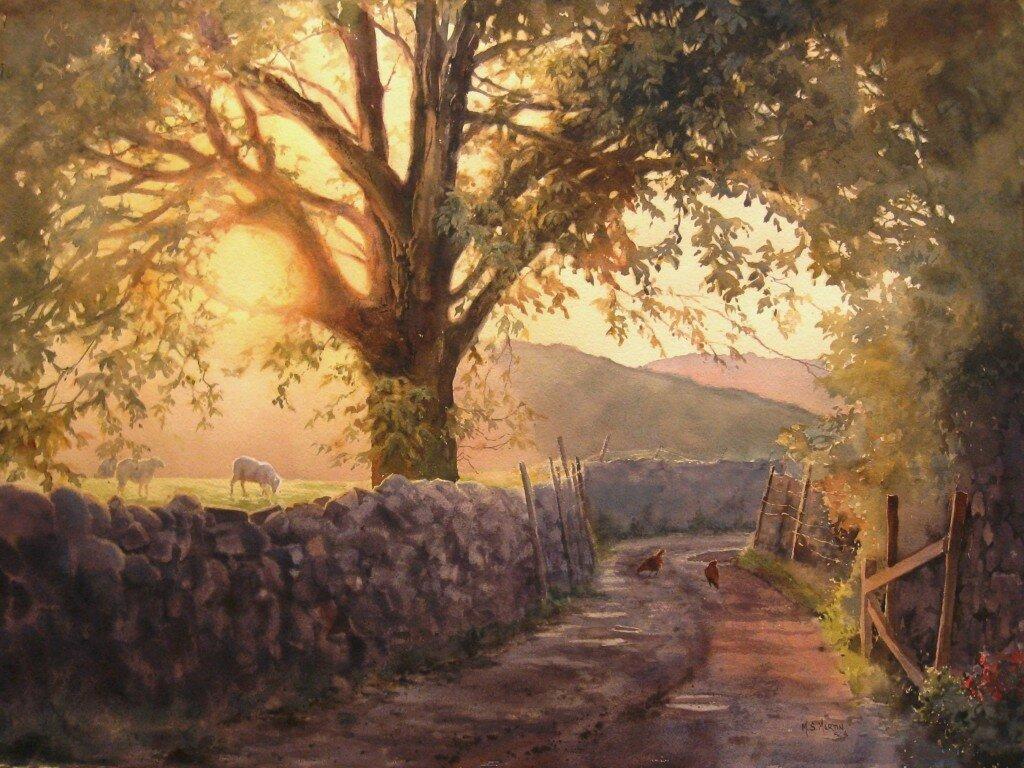 Une exposition de peintures à l'aquarelle et l'huile